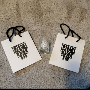 Diptyque bais candle holder and shopping bags